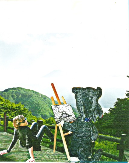 Gisèle Toulouzan avec bruno au Fuji