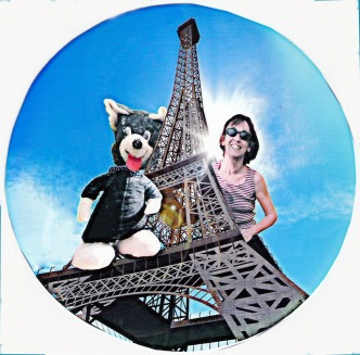 Gisèle Toulouzan ave Bruno sur la Tour Eifel